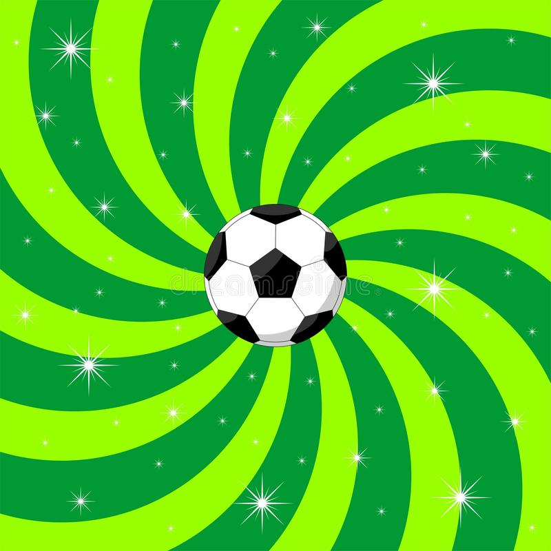 De bal van het voetbal op achtergrond vector illustratie