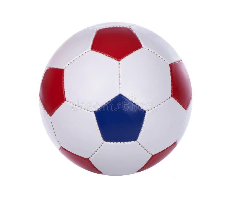 De bal van het voetbal op een wit royalty-vrije stock foto's
