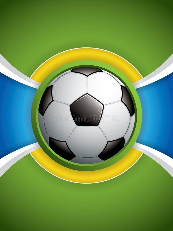 De Bal van het voetbal op Golvende Achtergrond stock illustratie