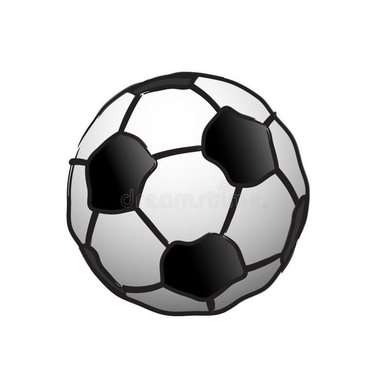 De bal van het voetbal op wit stock illustratie
