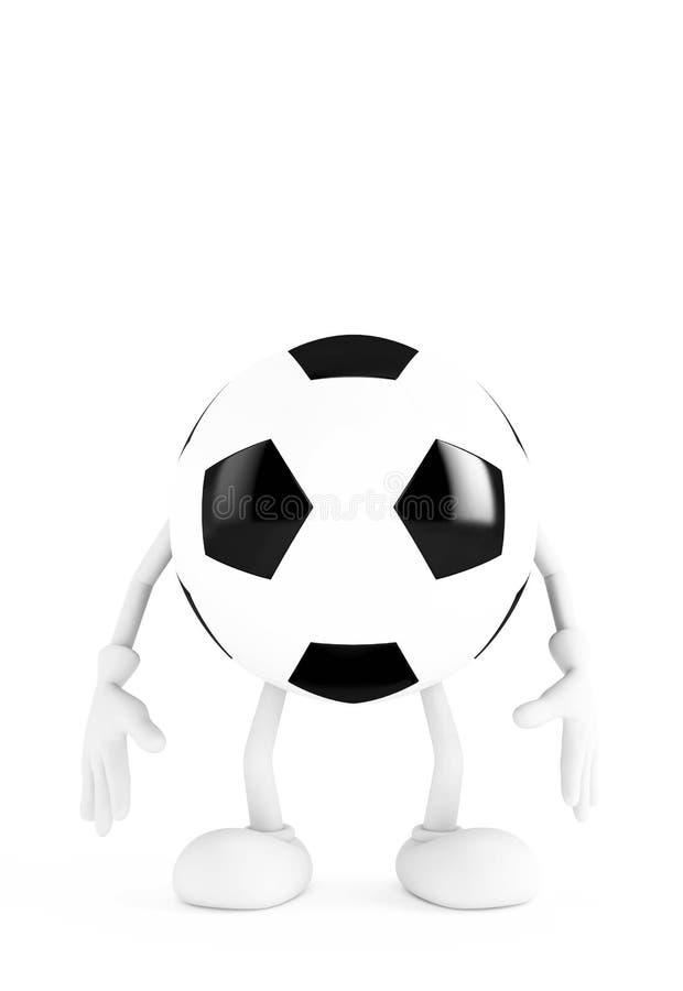 De bal van het voetbal op witte achtergrond stock illustratie