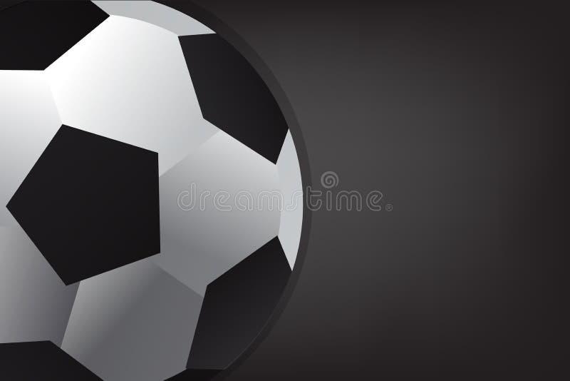 De bal van het voetbal op zwarte achtergrond stock afbeeldingen
