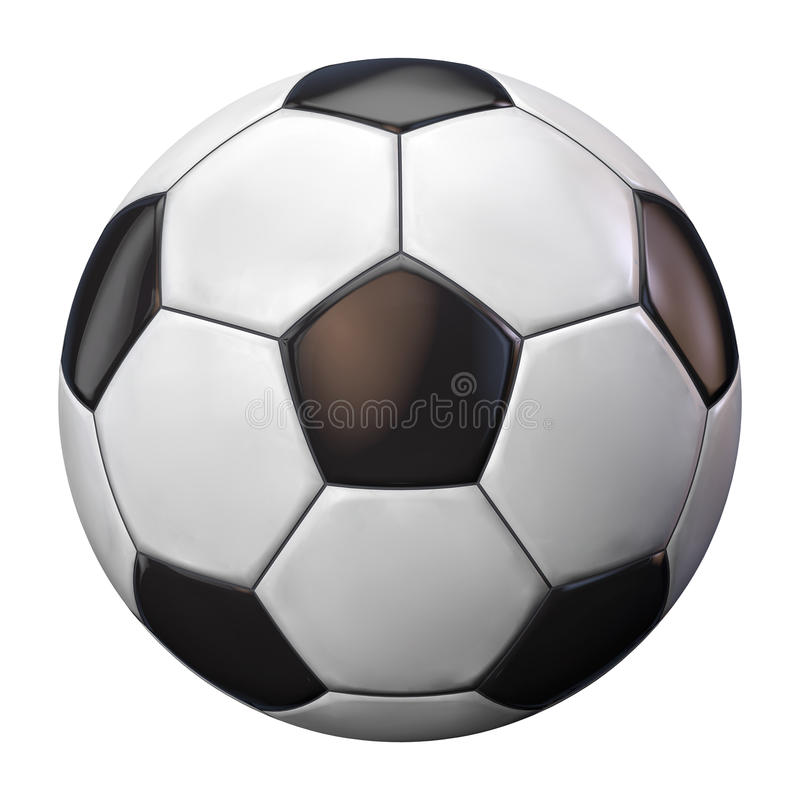 De Bal van het voetbal (Sinaasappel en Blauw) - dat op Wit wordt geïsoleerdd royalty-vrije stock afbeeldingen