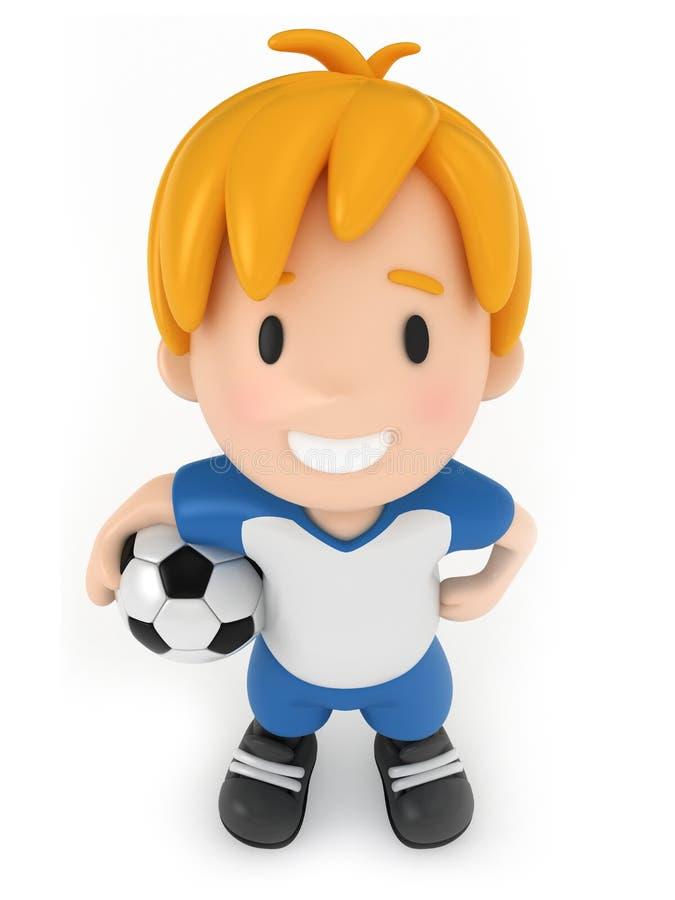 De Bal van het Voetbal van de holding van het jonge geitje royalty-vrije illustratie