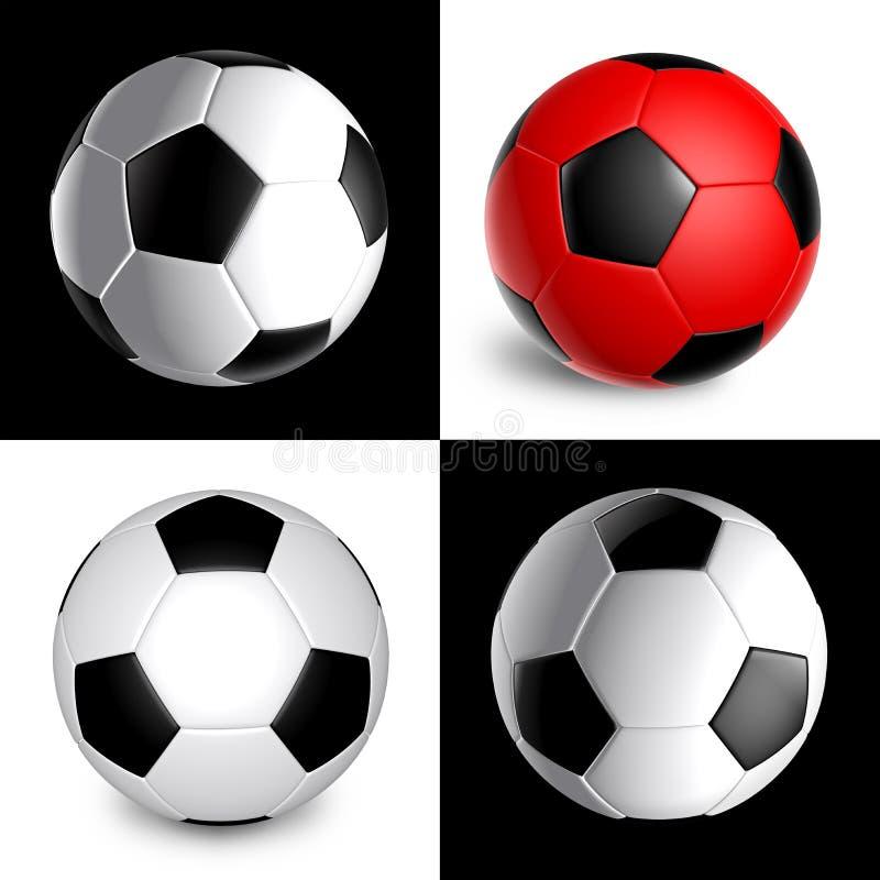 De Bal van het Voetbal van Nice vector illustratie