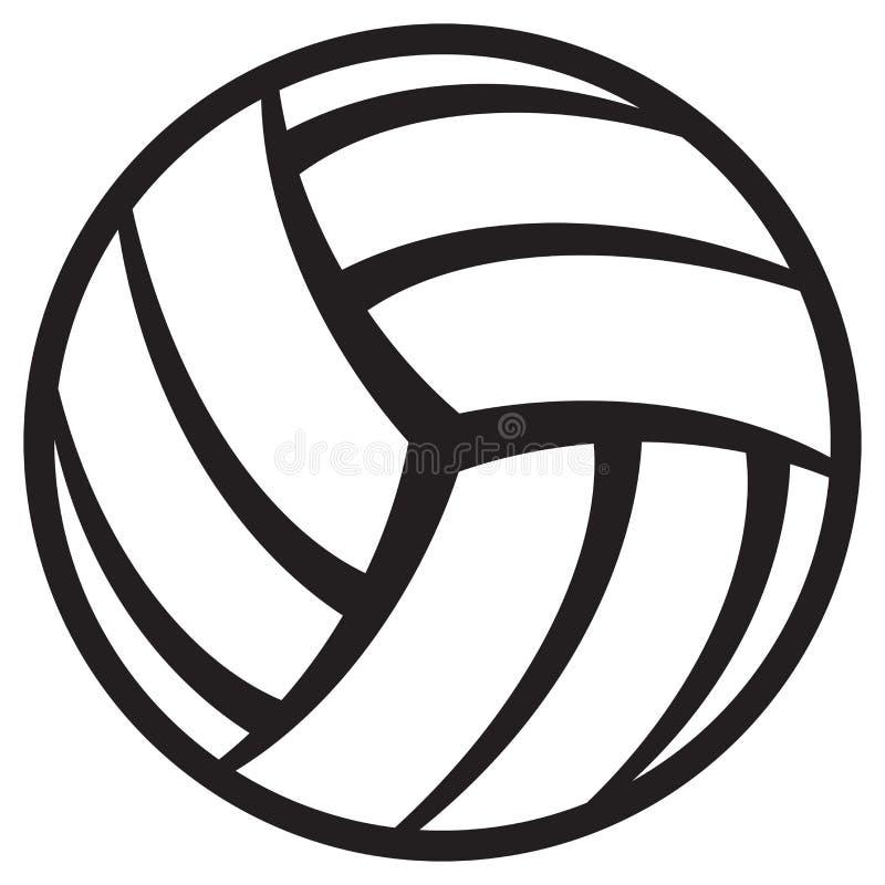 De bal van het volleyball royalty-vrije illustratie