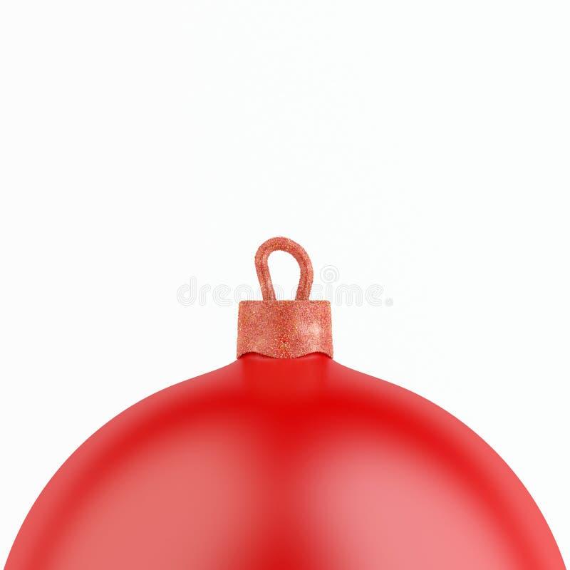 De Bal van de Kerstmisdecoratie op Witte Achtergrond royalty-vrije stock afbeeldingen