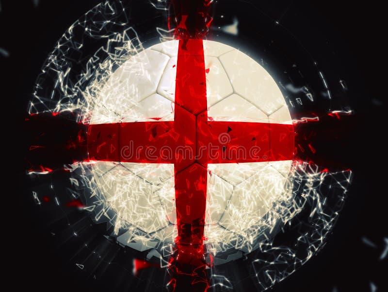 De bal van voetbalengeland met visuele gevolgen royalty-vrije illustratie