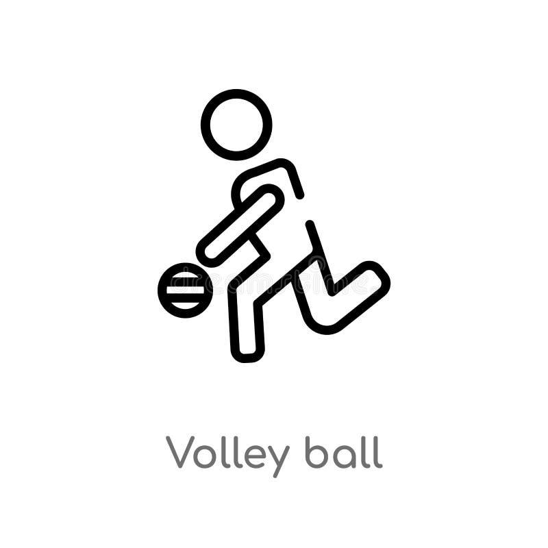 de bal vectorpictogram van het overzichtssalvo de ge?soleerde zwarte eenvoudige illustratie van het lijnelement van mensenconcept stock illustratie