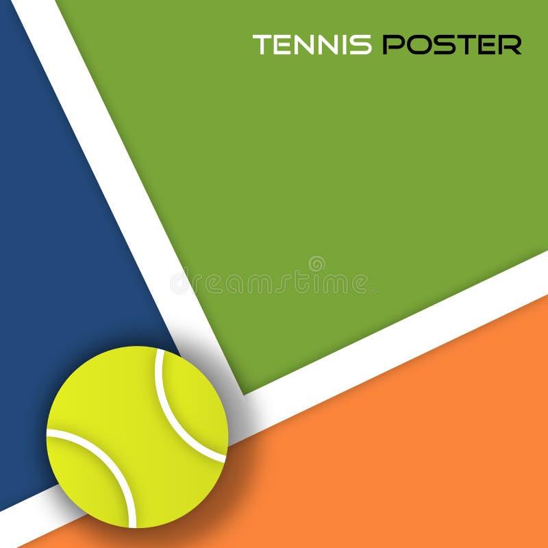 De balachtergrond van het tennis vector illustratie