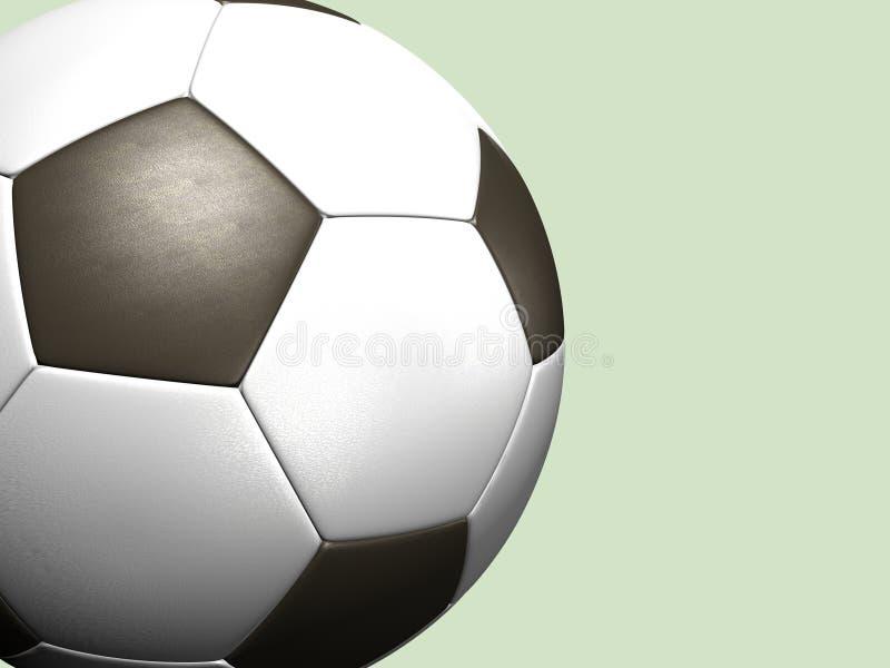 De balachtergrond van het voetbal stock illustratie