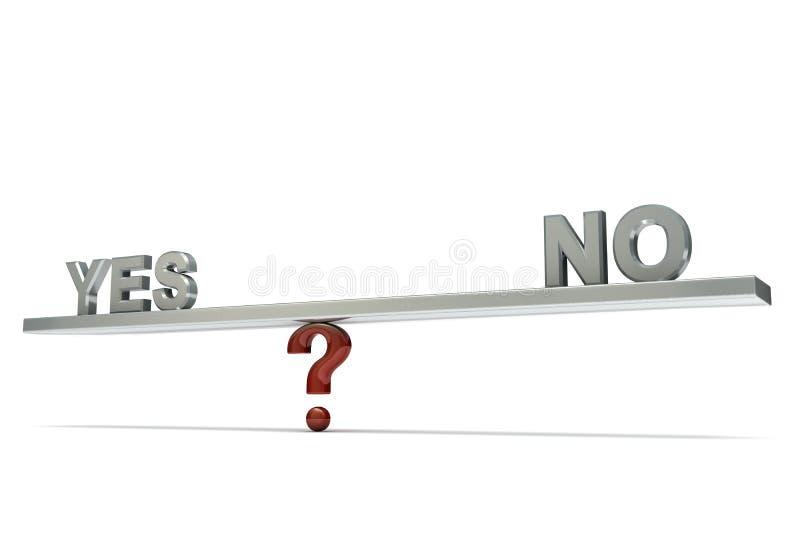 De balançoir No. oui illustration libre de droits