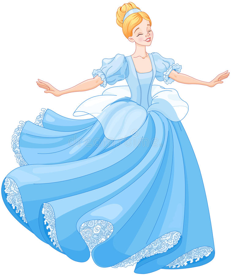De Baldans van Cinderella vector illustratie