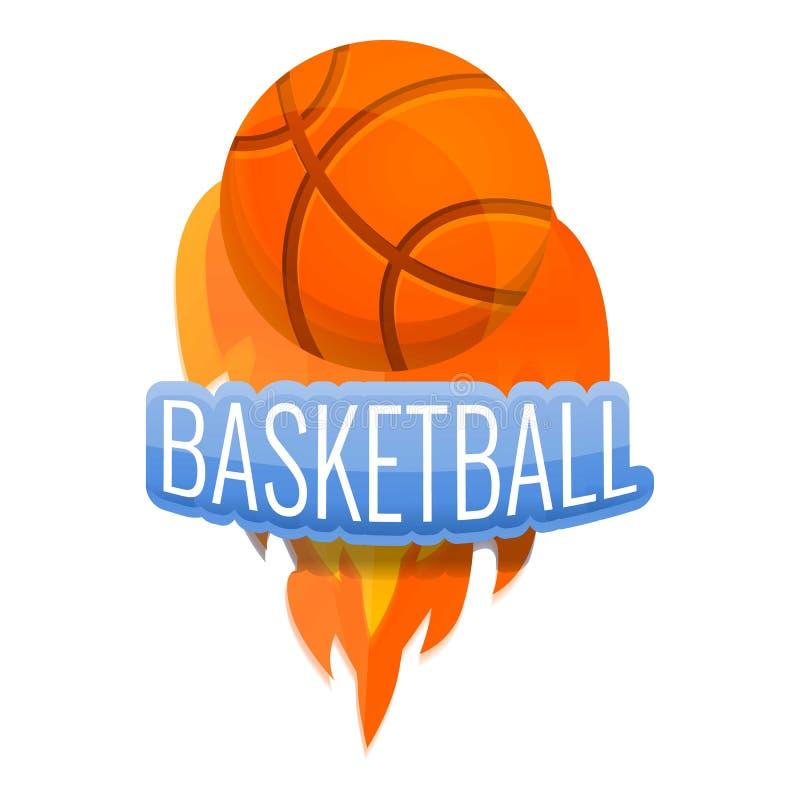 De balembleem van de basketbalbrand, beeldverhaalstijl vector illustratie
