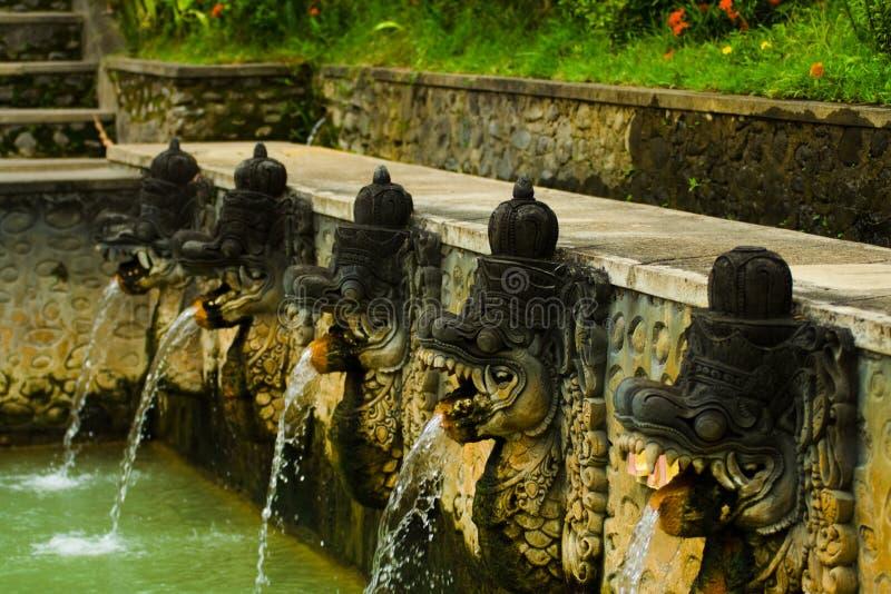 De Balinese Hete Hoofden van de Fonteinen van de Lente royalty-vrije stock afbeeldingen