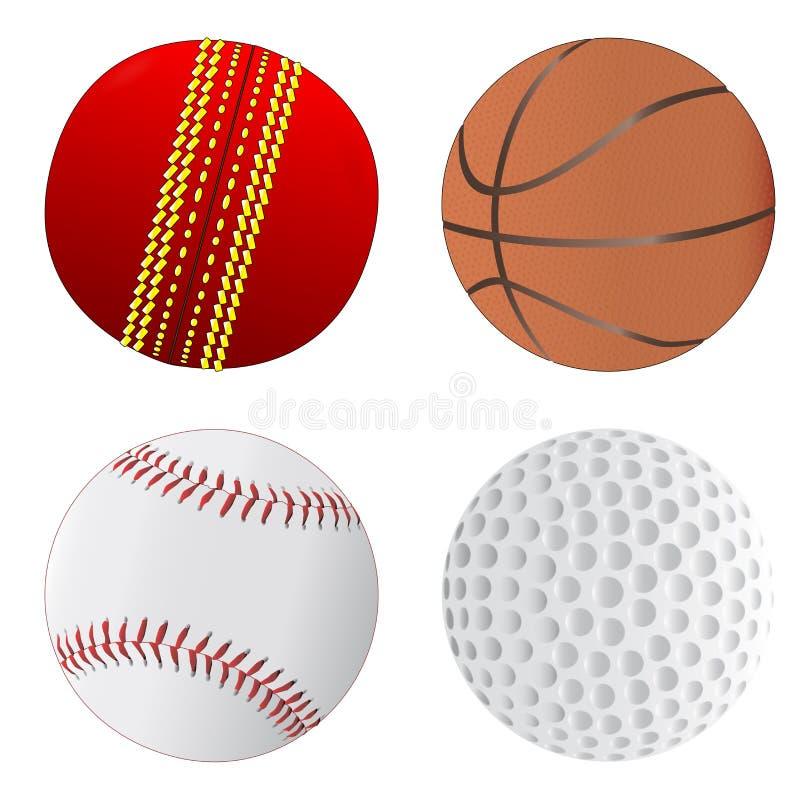 De balinzameling van sporten royalty-vrije illustratie