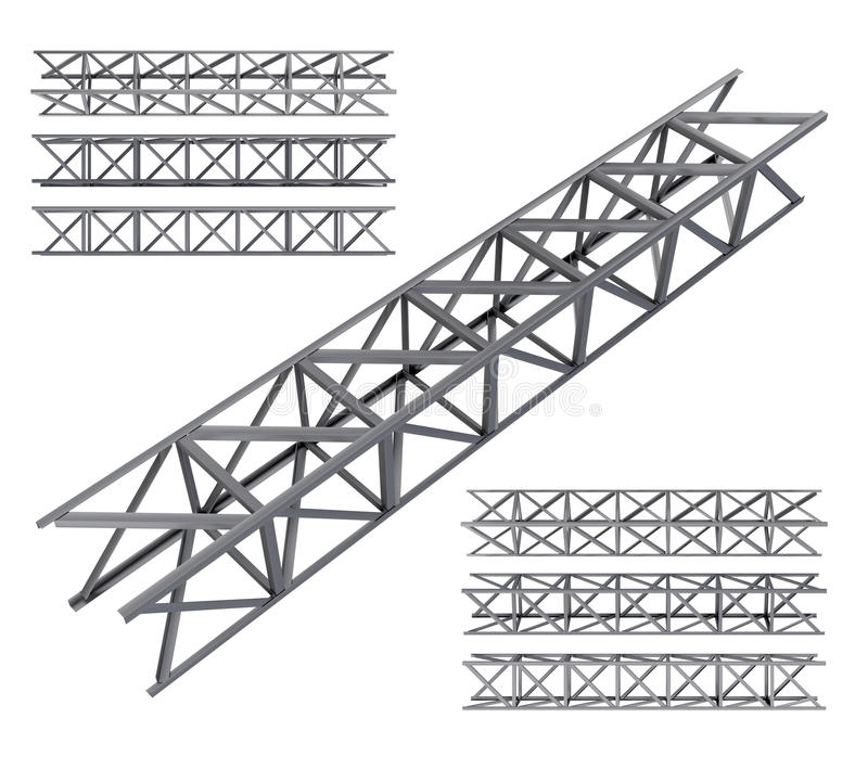 De balkreeks van de staalbundel stock illustratie