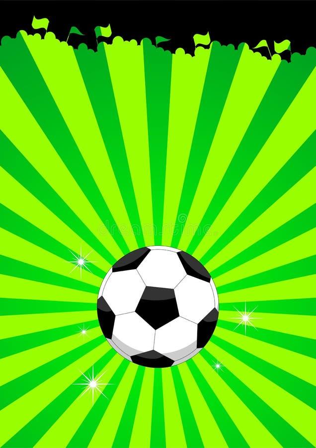 De ballay-out van het voetbal stock illustratie