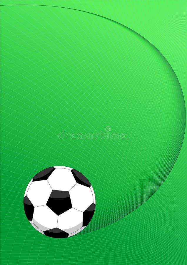 De ballay-out van het voetbal royalty-vrije illustratie
