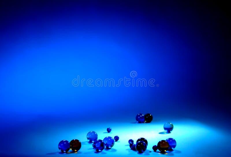 De ballen en de achtergrond van het glas voor verslag royalty-vrije stock afbeelding