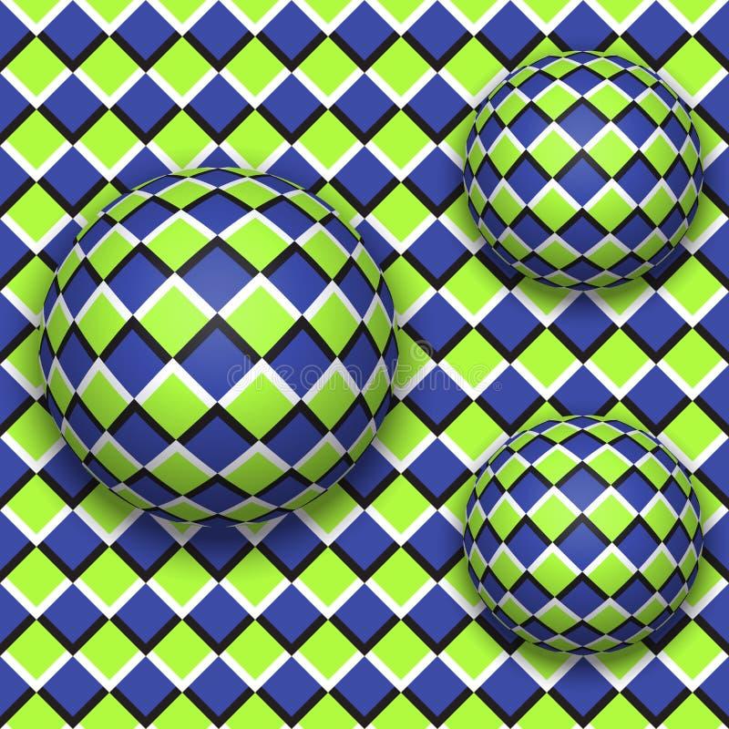 De ballen rollen neer Abstract vector naadloos patroon royalty-vrije illustratie