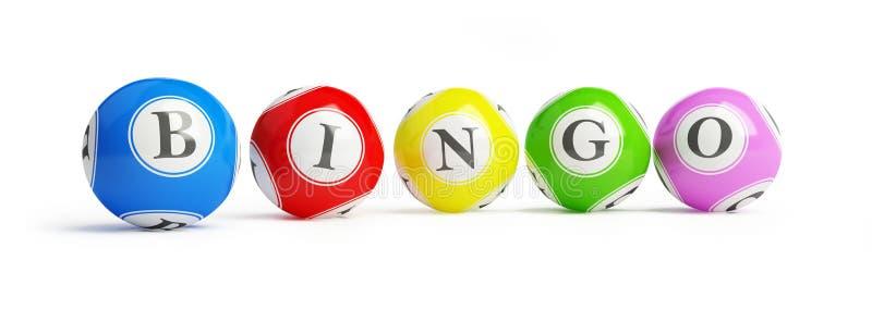 De ballen van Bingo royalty-vrije illustratie