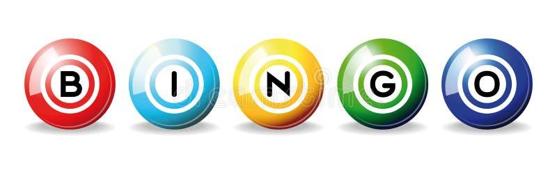 De ballen van Bingo stock illustratie