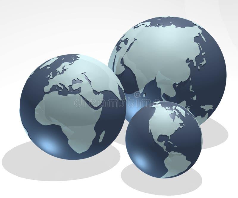 De Ballen van de aarde stock illustratie