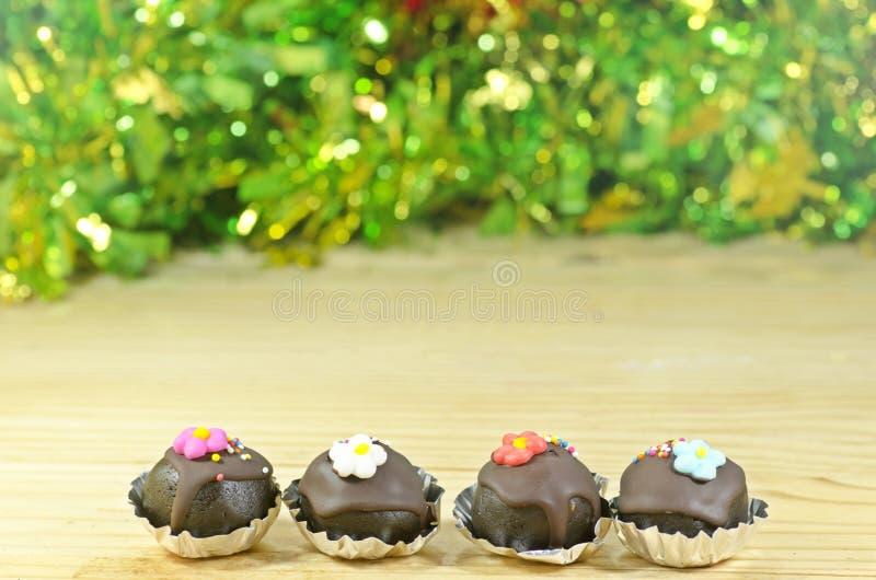 De Ballen van de chocoladecake stock afbeelding