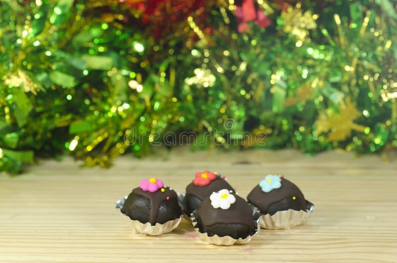 De Ballen van de chocoladecake stock foto