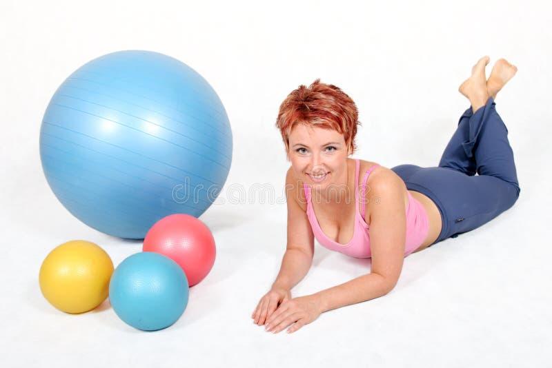 De ballen van de gymnastiek stock foto