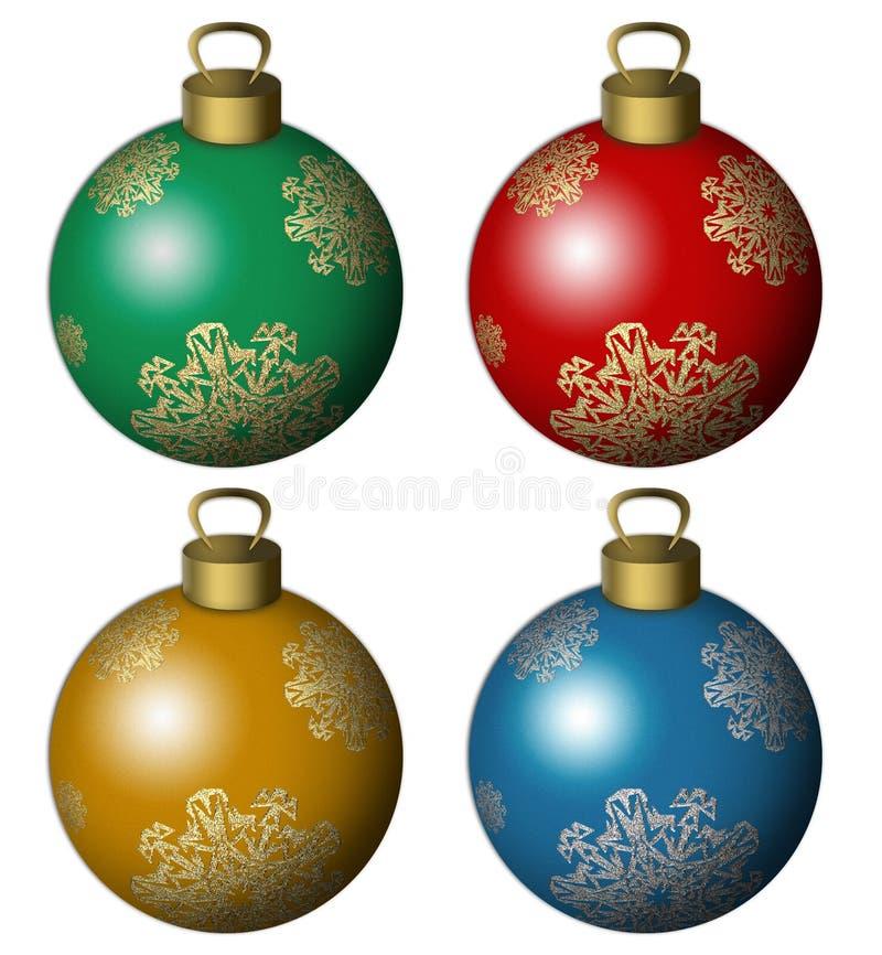 De ballen van de kerstboom vector illustratie