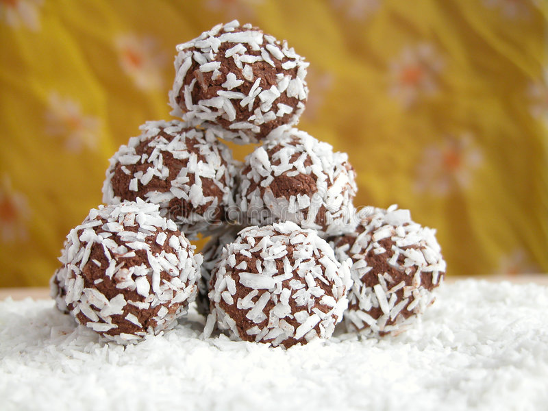 De ballen van de kokosnoot royalty-vrije stock foto's