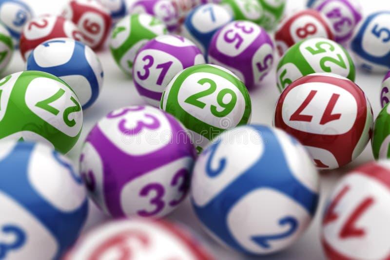 De ballen van de loterij royalty-vrije illustratie