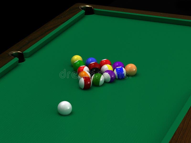 De ballen van de pool vector illustratie