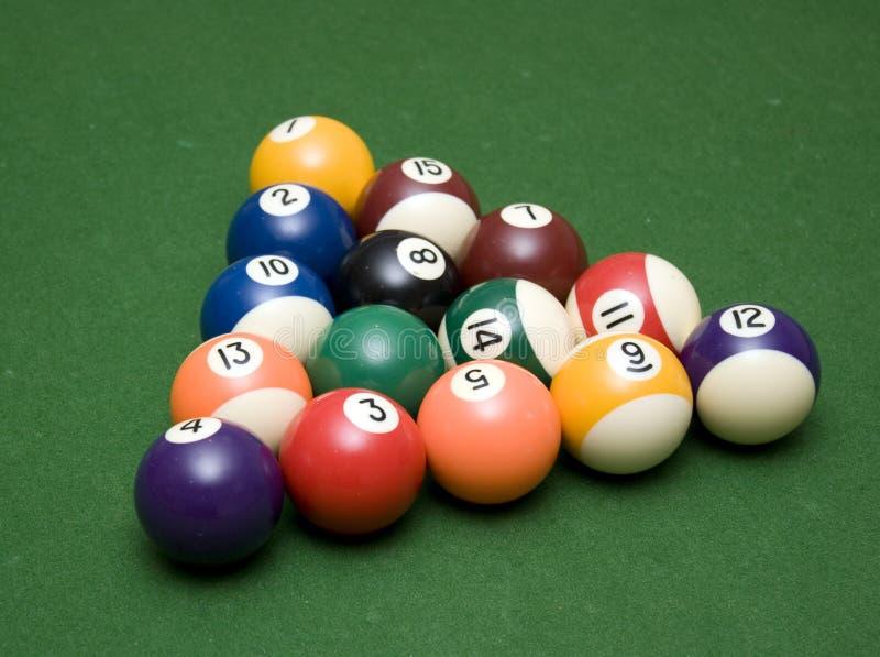 De Ballen van de pool - die voor onderbreking worden geplaatst royalty-vrije stock foto's