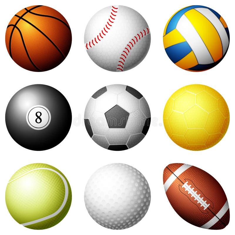 De ballen van de sport royalty-vrije illustratie