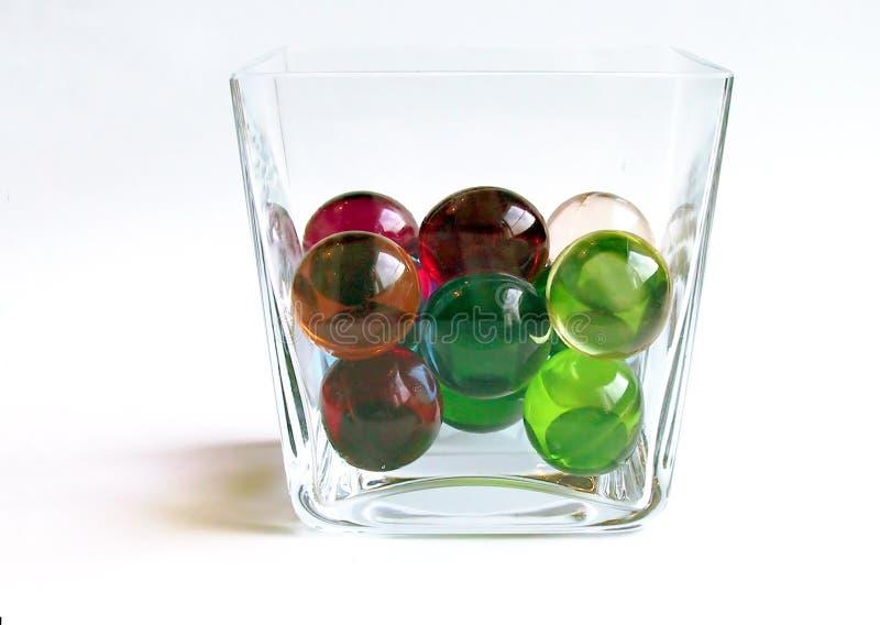 De ballen van het bad in een container stock fotografie