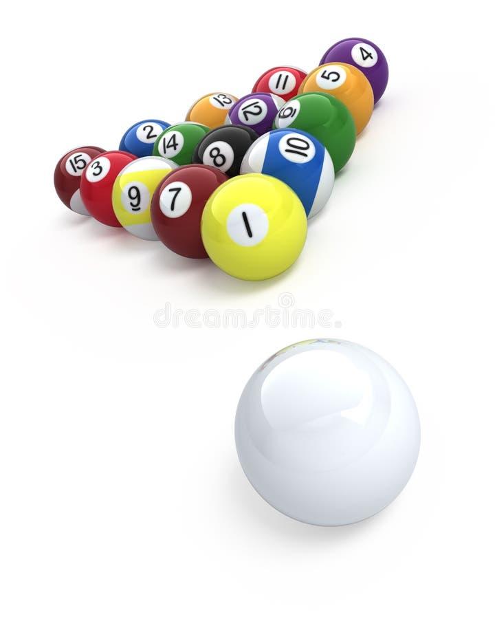 De ballen van het biljart vector illustratie