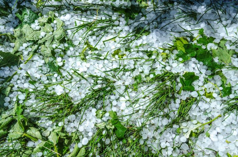 De ballen van het hagelijs stock foto's