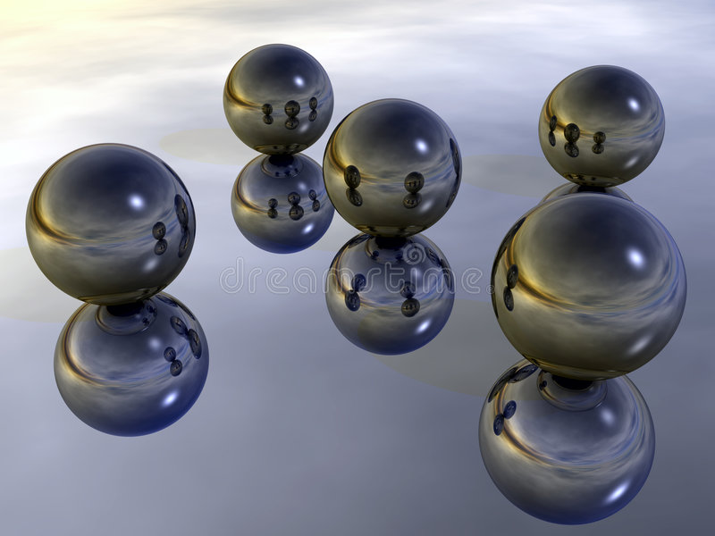 De Ballen van het metaal stock illustratie