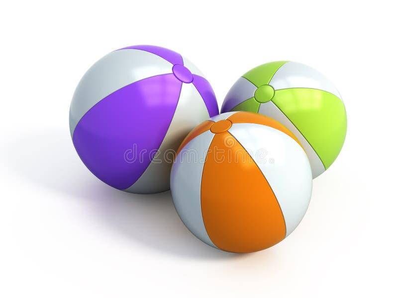 De ballen van het strand vector illustratie