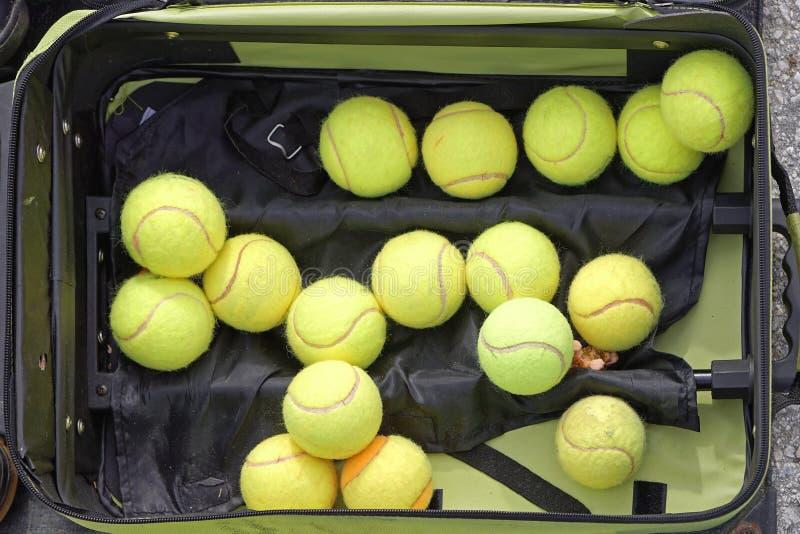 De ballen van het tennis royalty-vrije stock afbeelding