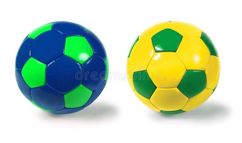 De ballen van het voetbal stock foto's