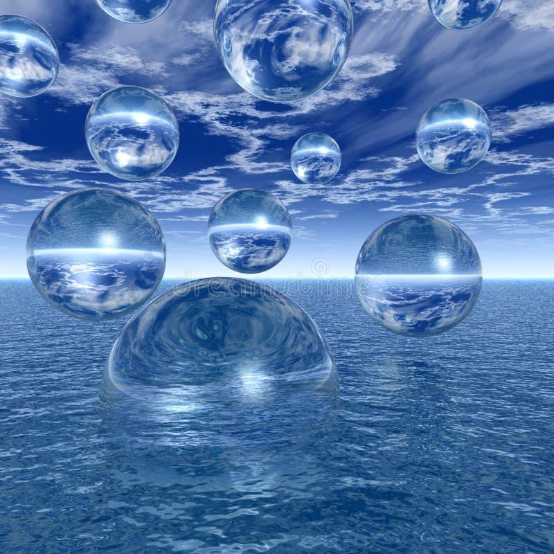 De ballen van het water royalty-vrije illustratie