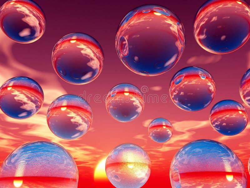 De ballen van het water stock illustratie
