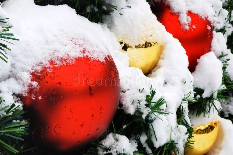 De Ballen van Kerstmis stock foto