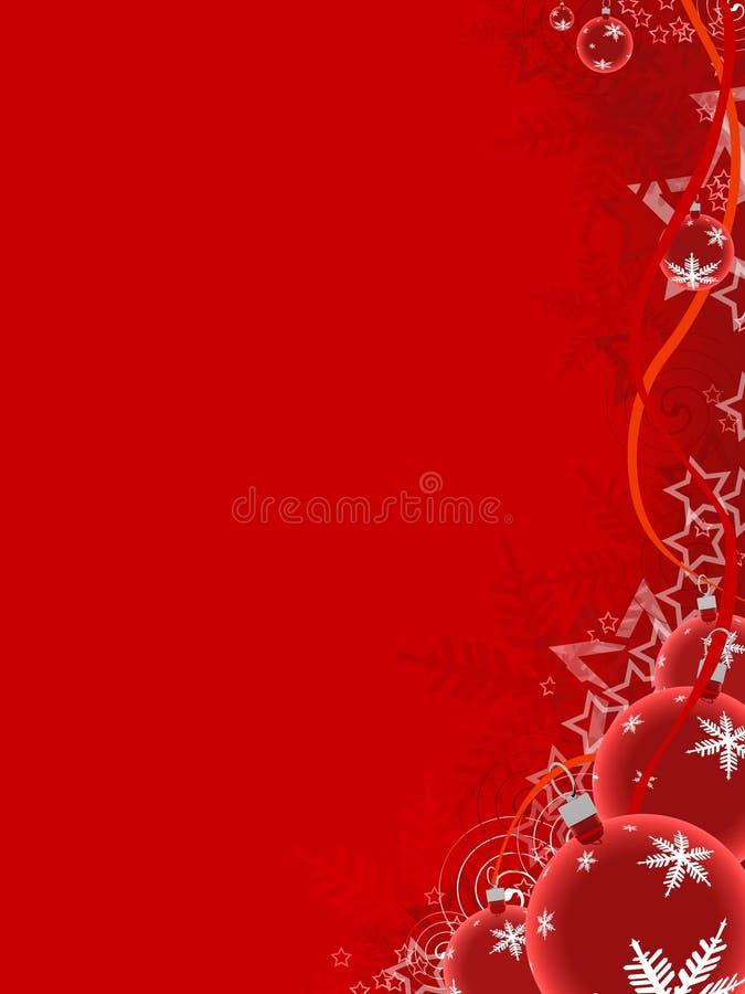 De Ballen van Kerstmis royalty-vrije illustratie