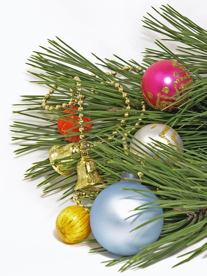 De ballen van Kerstmis. Geïsoleerdl. stock afbeeldingen
