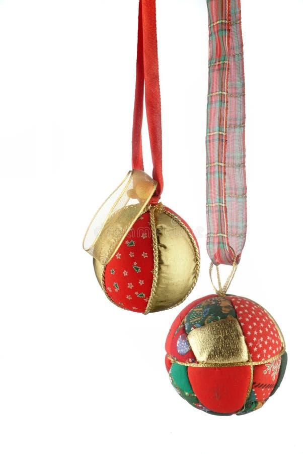 De ballen van Kerstmis - verticale foto royalty-vrije stock afbeeldingen